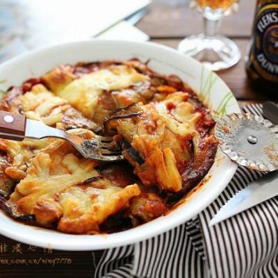 翡翠鑲蛋&乳酪焗烤茄子