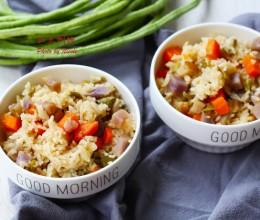 营养全面的饭菜一锅出:豇豆焖饭