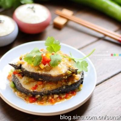 泡菜淋鳕鱼