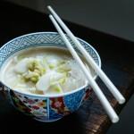 上海人常吃的年糕-黄芽菜炒年糕