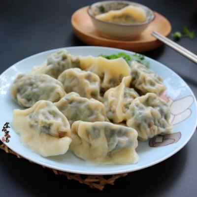 菠菜鲜肉饺
