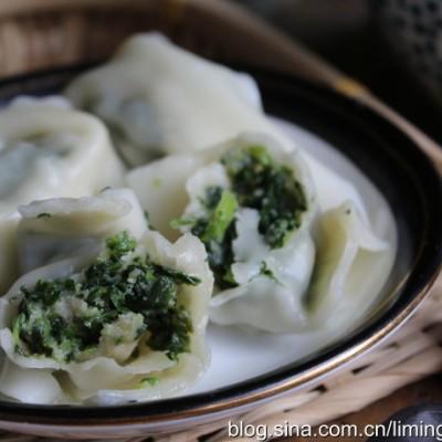 油煎芫荽饺子
