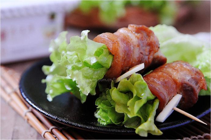 烤赤味噌五花肉卷生菜