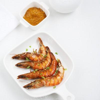空氣炸鍋食譜-咖喱烤蝦