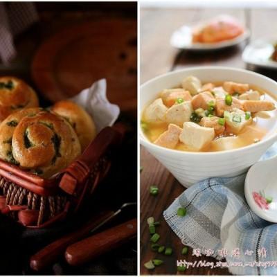 鲑鱼味增汤&香葱味增面包