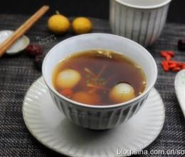 冬日暖胃茶-枸杞桂圆红糖茶