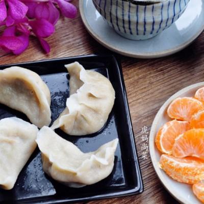 营养早餐-韭黄蘑菇肉饺子