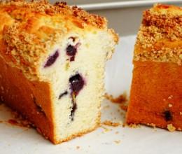 燕麦酥粒柠檬蓝莓蛋糕