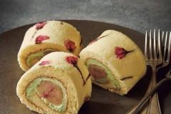 盐渍樱花蛋糕卷