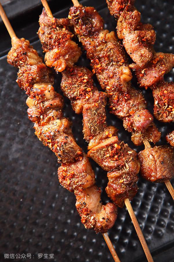 烤箱烤羊肉串
