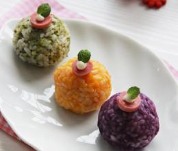 彩色三蔬饭团
