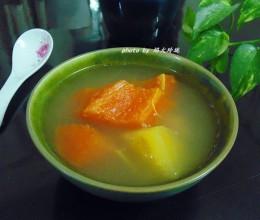 雪莲果木瓜猪骨汤