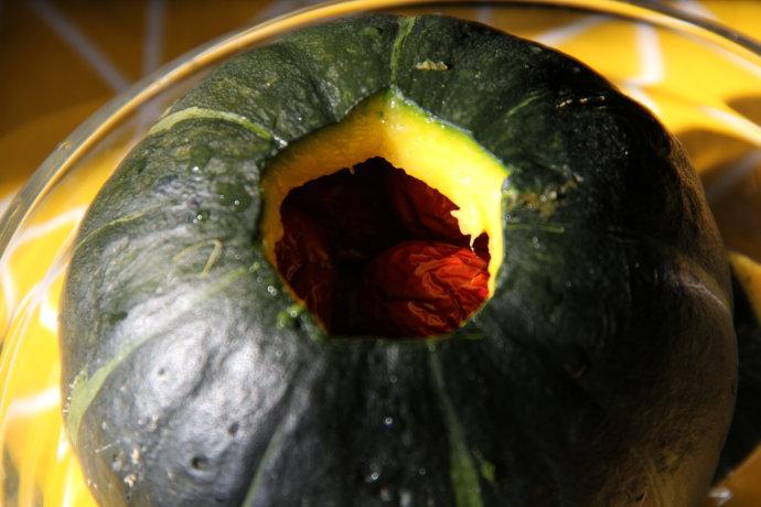 南瓜冰糖红枣盅