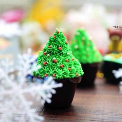 自制圣诞树蛋糕