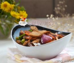 胡萝卜炒肚片