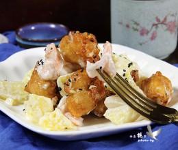 茶餐厅的招牌菜--菠萝油条虾