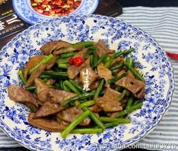 蒜苔熘猪肝