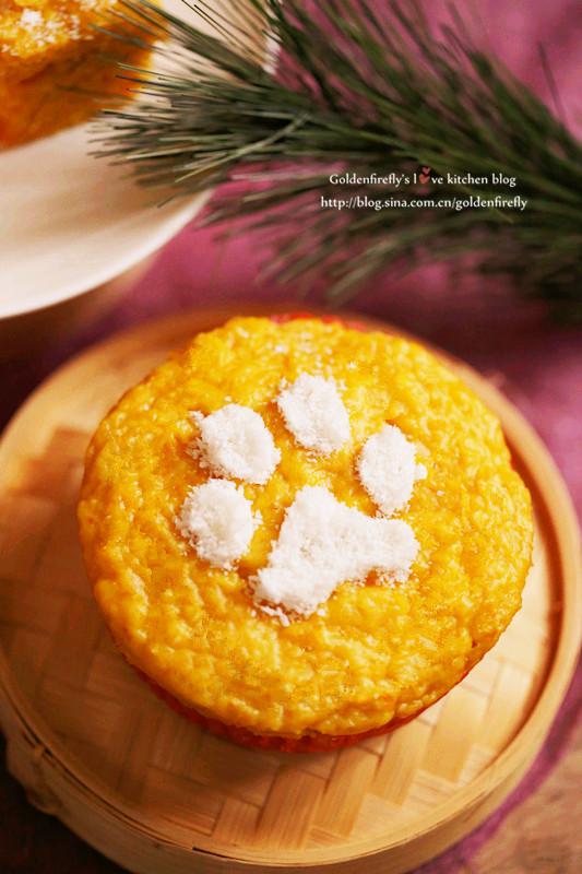 金瓜奶香米发糕