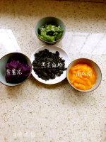 多彩蔬菜馒头卷