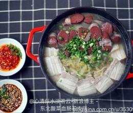 东北酸菜血肠花肉锅