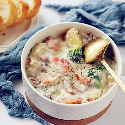 培根奶油炖菜