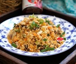 #新春悠享家#酱香肉丁炒豆渣,变废为宝好食材,有减肥的功效