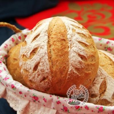 红糖全麦葡萄干软欧圆包