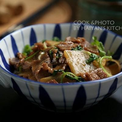 春节菜谱-萝片牛肉