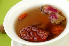 桂圆玫瑰花枣茶
