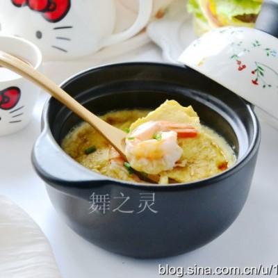 鸡蛋羹怎么做好吃-虾仁豆腐鸡蛋羹