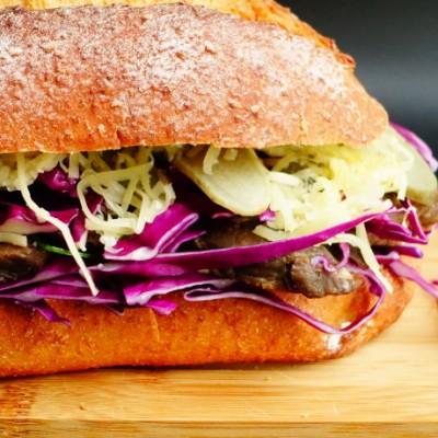 上腦牛排、全麥巨無霸漢堡