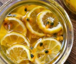 柠檬蜂蜜百香果饮