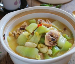 芥菜的做法-芥菜咸鸡煲