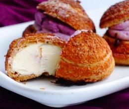 紫薯酥皮泡芙