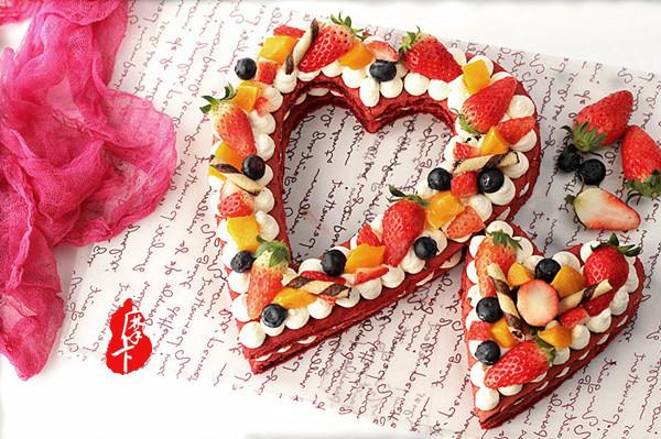 心心相印水果蛋糕