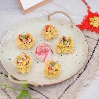 五福黄金袋狗年餐桌上的创意菜
