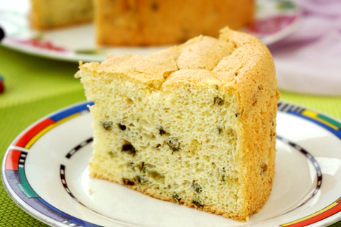 芝麻香葱戚风蛋糕