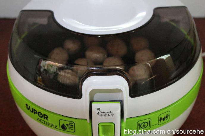 空气炸锅香菇莲藕丸子