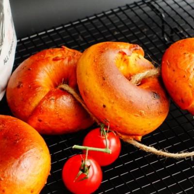 番茄芝士贝果