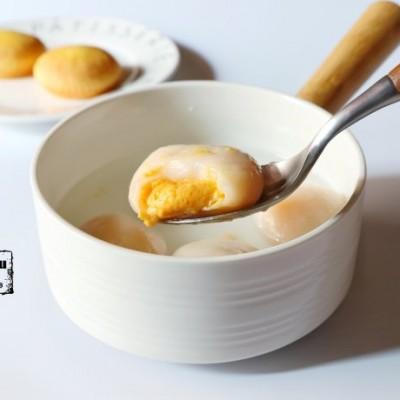 汤圆创作-流沙奶黄汤圆