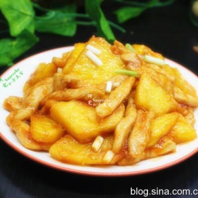 菠萝炒鸡胸肉