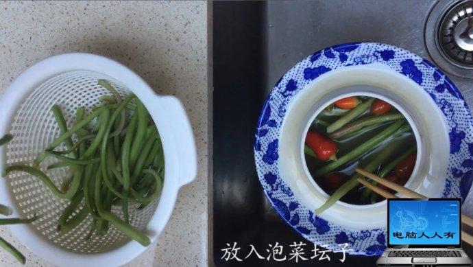 米苋梗泡菜炒肉糜