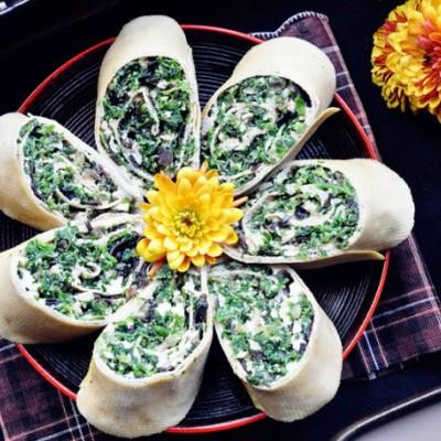 豆腐荠菜卷