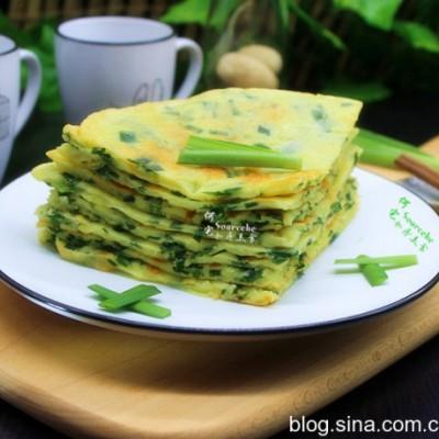 养肝护肝的食物-韭菜鸡蛋饼