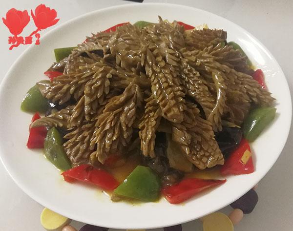 双椒炒腰花
