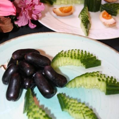 黃瓜擺盤_水果拼盤