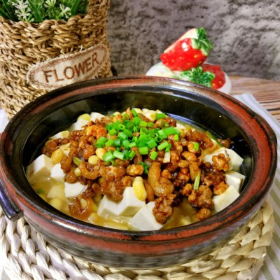 肉末酿豆腐