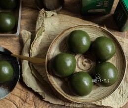 清明节吃什么-猪油红豆馅青团