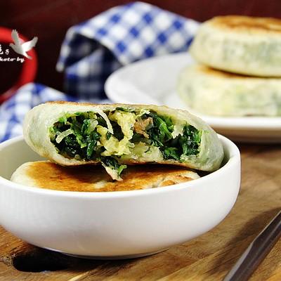 韭菜菠菜饼