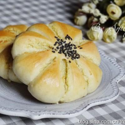 超柔軟花朵椰蓉面包(中種法)